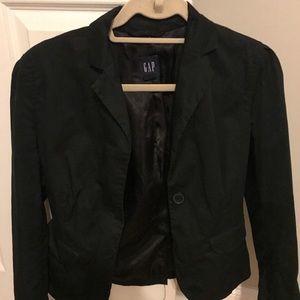 Gap size 4 Black Blazer silk lining